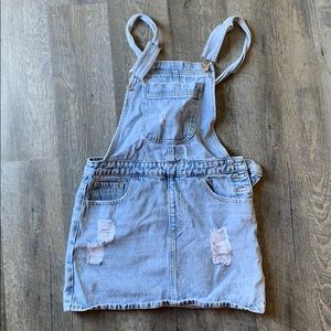 Washed Distressed Cover All Dress